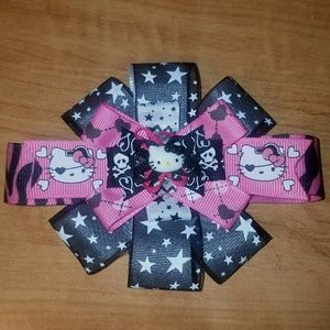 Other - Hot pink and black Hello Kitty bow